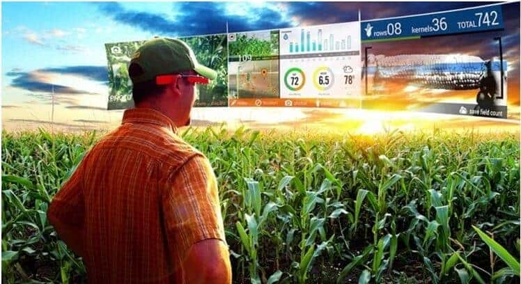 Augmented Reality (AR) applications in agriculture