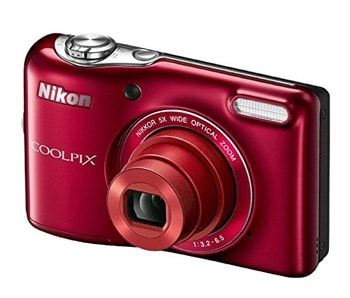 Nikon COOLPIX L32 Digital Camera with 5x Zoom Lens and 720p HD recording