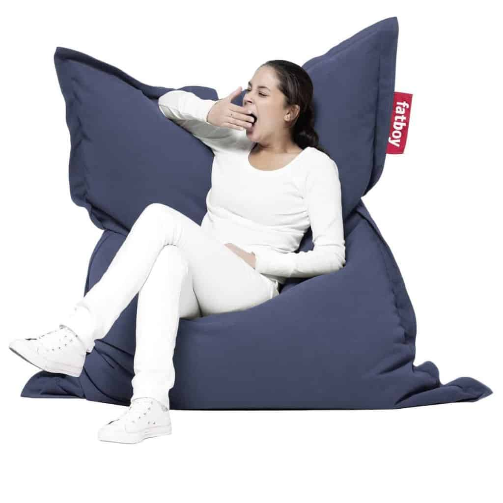 Girl sitting at Fatboy Bean Bag Chair