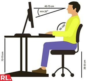 best sitting posture at computer