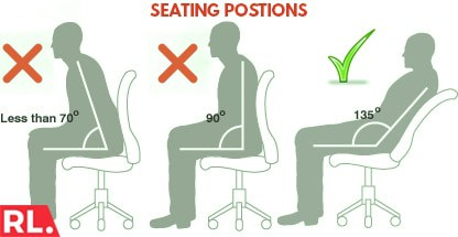 various seating positions and angles