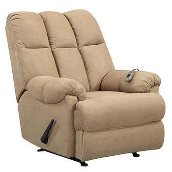 Dorel Living Padded Dual Massage Recliner - Best Oversized