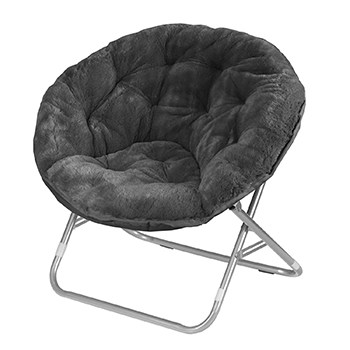 Faux Fur Saucer Reading Chair
