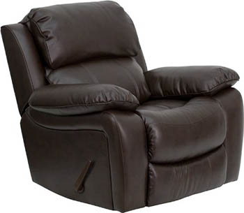 Flash Furniture Brown Leather Rocker Recliner - Most Comfortable