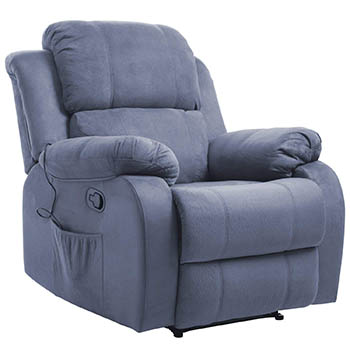 Merax Suede Heated Massage Recliner