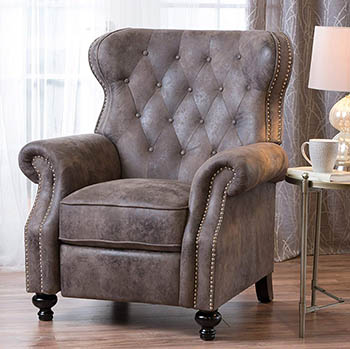 Waldo Tufted Wingback Recliner