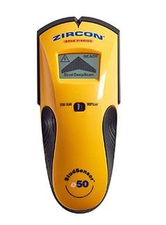 Zircon StudSensor e50 Electronic Wall Scanner / Edge Finding Stud Finder