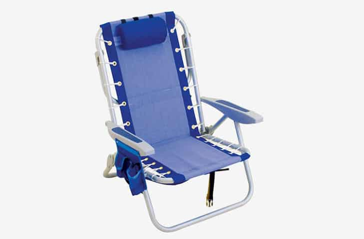 beach chair in blue color