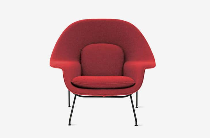 lounge chair in red color