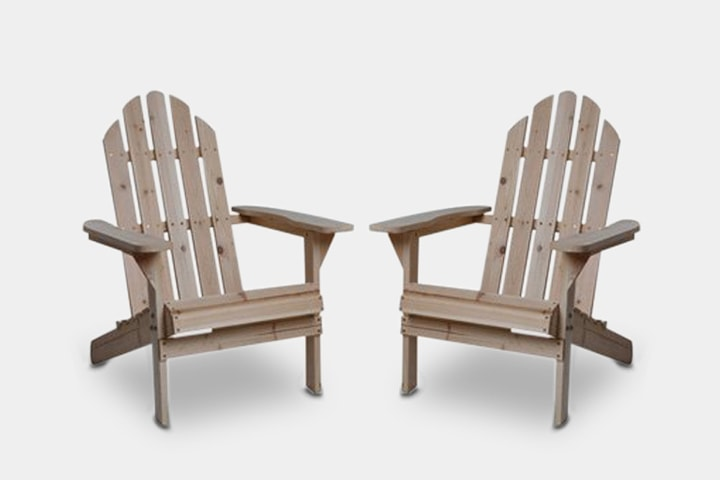 Fir Wood Unfinished Adirondack Chairs