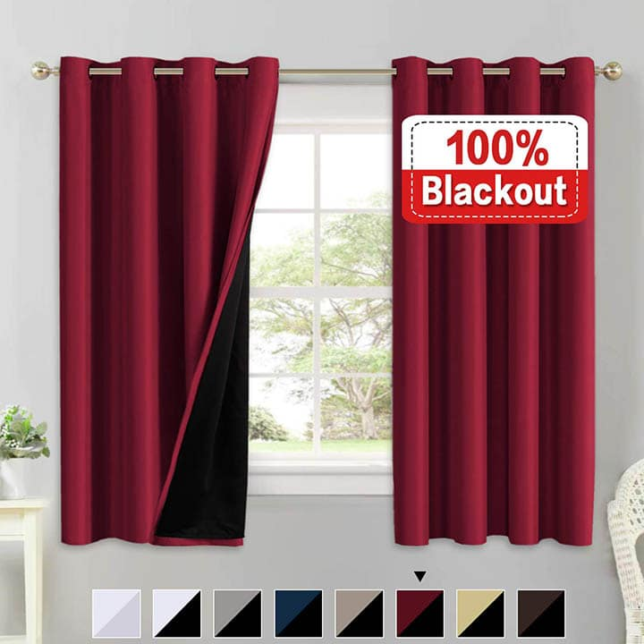 Flamingo thermal insulated curtains